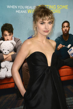 """Imogen Poots attends the premiere of film """"That Awkward Moment"""" in Los Angeles"""
