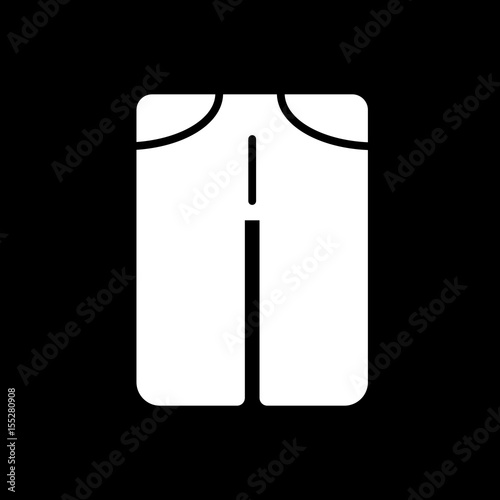 4f68ce40b31 man pants vector icon. Black and white man clothes illustration. Solid  linear clothing icon.
