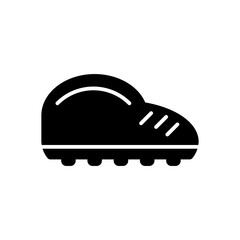 Man sneakers vector icon. Black and white sport shoes illustration. Solid linear icon.