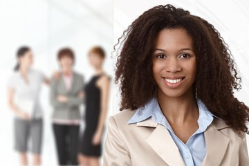 Portrait of afro businesswoman at office