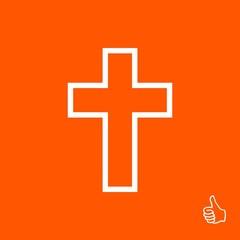cross icon vector illustration. Flat design style