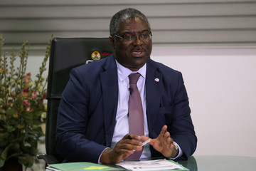 Executive Chairman of NigeriaÕs Federal Inland Revenue Service (FIRS), Mr Tunde Fowler speaks during an exclusive interview with Reuters in Abuja, Nigeria.