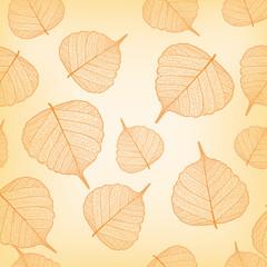 Orangene Blätter, nahtloses Muster