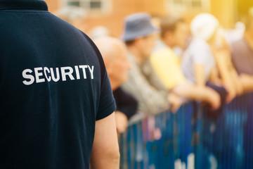Obraz Member of security guard team on public event - fototapety do salonu