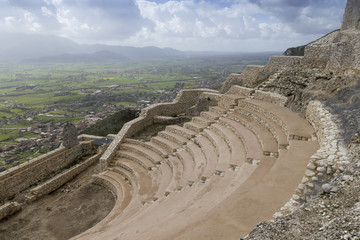 Ancient Roman theater on monte san nicola pietravairano