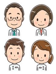 医療関係者のアイコン風イラストセット