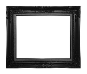 Antique black frame isolated on white background, clipping path