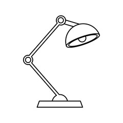 desk lamp icon image vector illustration design  single black line