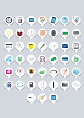 Papercut business icons