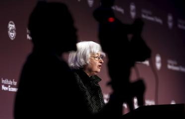 Yellen speaks at the IMF in Washington
