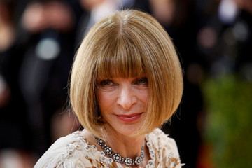 "Anna Wintour, editor-in-chief of American Vogue magazine, arrives at the Metropolitan Museum of Art Costume Institute Gala to celebrate the opening of ""Manus x Machina: Fashion in an Age of Technology"" in New York"