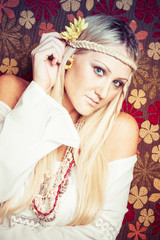 Blonde Hippie Woman