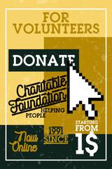 Color vintage charitable foundation banner