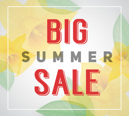 Big Summer Sale lettering with border