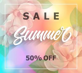 Sale Summer lettering in frame
