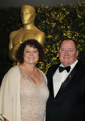 Lasseter, chief creative officer of Pixar and wife Nancy arrive at Academy of Motion Picture Arts and Sciences 4th annual Governors Awards in Hollywood