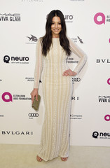 Jessica Gomes arrives at the Elton John AIDS Foundation Academy Awards Viewing Party in West Hollywood