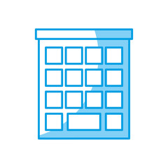 city building icon over white background. vector illustration