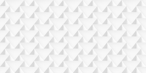 Realistic texture, volume triangles, gray geometric pattern, vector design 3d light wallpaper