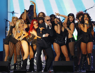 Hip-hop and rap musician Pitbull performs at the 2011 Billboard Latin Music Awards in Coral Gables