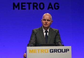 Metro AG CEO Koch addresses the annual shareholder meeting in Duesseldorf