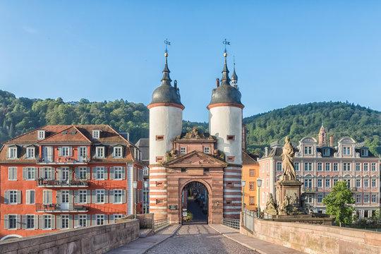 Old Bridge Gate in Heidelberg, Germany