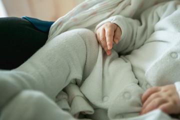 Photo of newborn baby feet