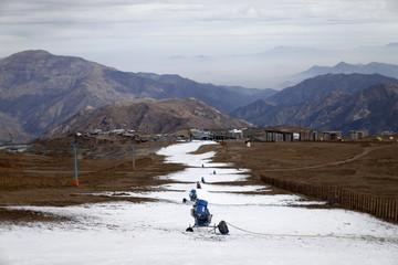 A view of the El Colorado ski centre is seen at Los Andes Mountain range, near Santiago