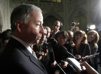 Canada's Justice Minister Nicholson speaks to journalists on Parliament Hill in Ottawa
