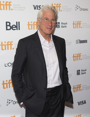 """Gere arrives for the """"Time Out of Mind"""" gala at the Toronto International Film Festival in Toronto"""
