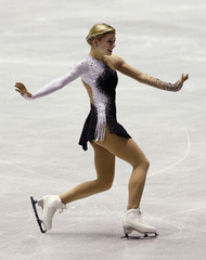 Gold of the U.S. performs during the women's short programme at the ISU Grand Prix of Figure Skating in Tokyo