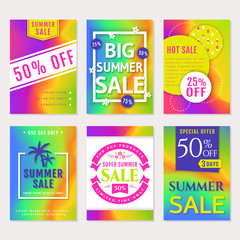 Summer sale banners.