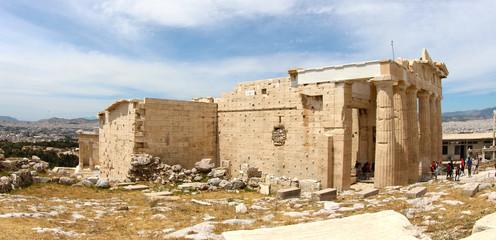 Panorama Temple Athèna vue arrière sur l'Acropole, Athènes, Grèce