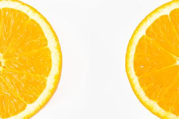 Close-up of sliced orange
