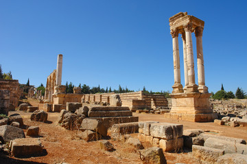 Ruins of the Umayyad city of Anjar , Lebanon