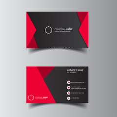Vector design formal red modern business card
