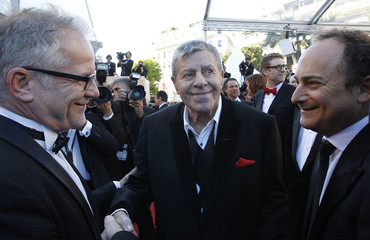 "Cast member Jerry Lewis arrives for the screening of the film ""Max Rose"" during the 66th Cannes Film Festival"