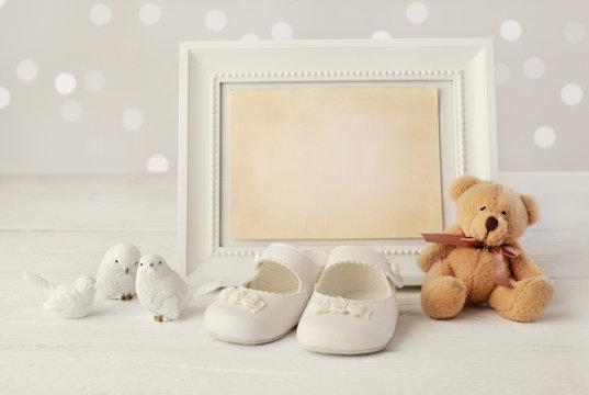 baby birth frame background