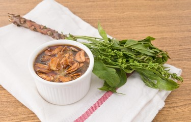 Thai Food of Delicious Neem with Sweet Sauce