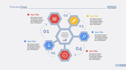 Five Hexagons Cycle Slide Template