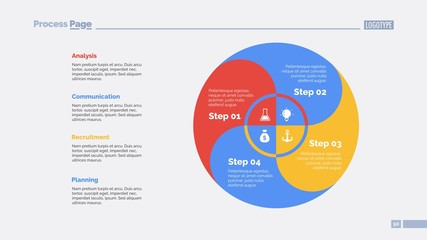 Four Circle Zones Slide Template
