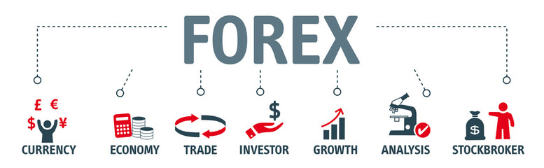 Banner forex concept