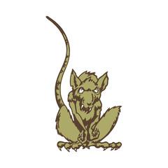 rat cartoon character. Vector Illustration.