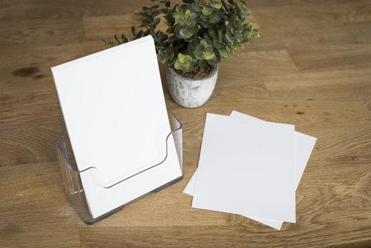Brochure or flyer holder