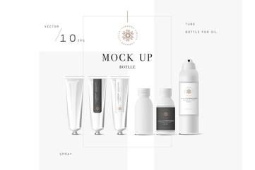 Realistic white cosmetic cream