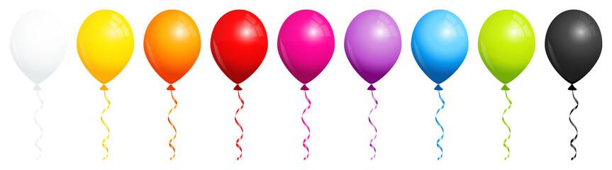 9 Rainbow Balloons