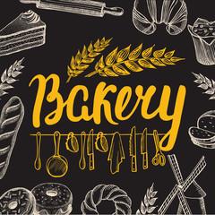 Bakery poster for restaurant.