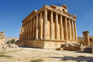 The Temple of Bacchus in Baalbek, Lebanon