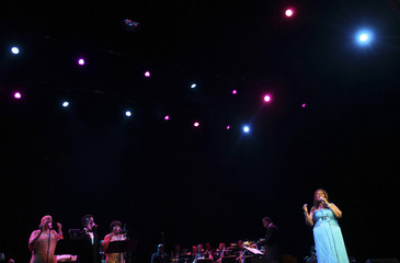 Aretha Franklin performs at Radio City Music Hall in New York