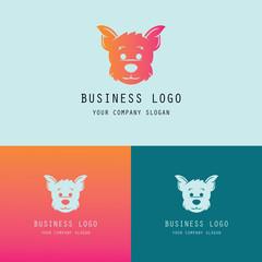 head dog symbol logo